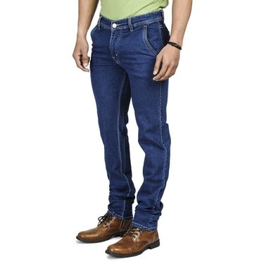 Pack of 2 Blended Cotton Slim Fit Jeans_502503 - Black & Blue