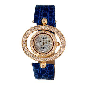 Exotica Fashions Analog Round Dial Watch For Women_Efl15w4 - White & Grey