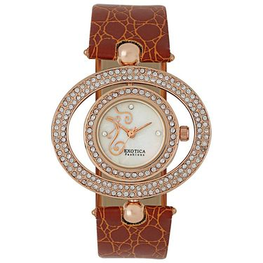 Exotica Fashions Analog Round Dial Watch For Women_Efl17w55 - White