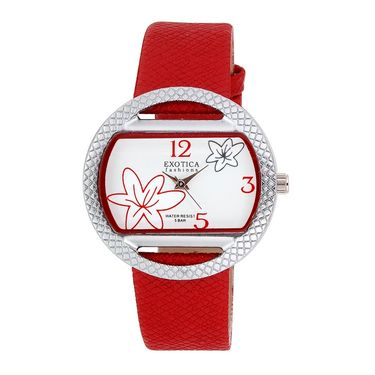Exotica Fashions Analog Oval Dial Watch For Women_Efl24w63 - Red