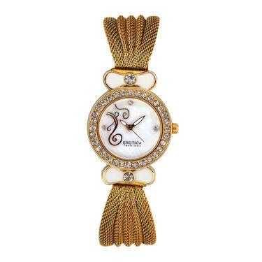 Exotica Fashions Analog Round Dial Watch For Women_Efl25w41 - White
