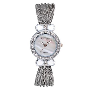 Exotica Fashions Analog Round Dial Watch For Women_Efl25w39 - White