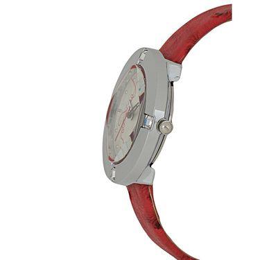 Exotica Fashions Analog Round Dial Watch For Women_Efl29w8 - White
