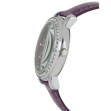 Exotica Fashions Analog Round Dial Watch For Women_Efl70w48 - Purple