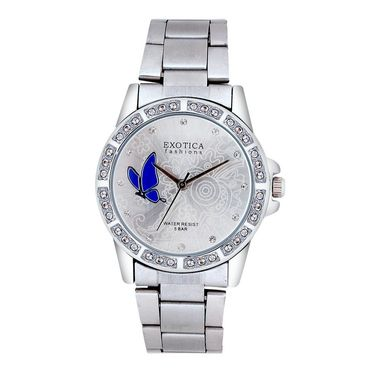 Exotica Fashions Analog Round Dial Watch For Women_Efl95w12 - White