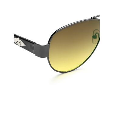 Alee Metal Oval Unisex Sunglasses_169 - Green