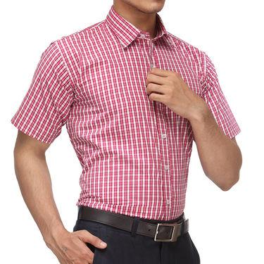 Rico Sordi Half Sleeves Checks Shirt_R002hs - Pink