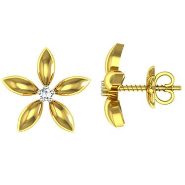 Ag Real Diamond Aarti Earrings_Agse0030y