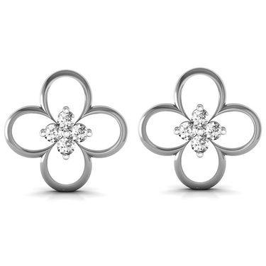 Ag Real Diamond Sonali Earrings_Agse0162w