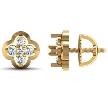 Avsar Real Gold and Swarovski Stone Sachi Earrings_Ave007yb