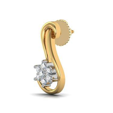 Avsar Real Gold and Swarovski Stone Aruna Earrings_Ave051yb