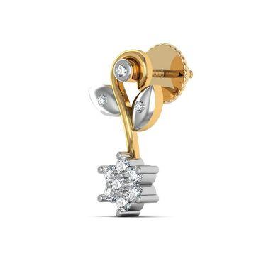 Avsar Real Gold and Swarovski Stone Channai Earrings_Ave0123yb