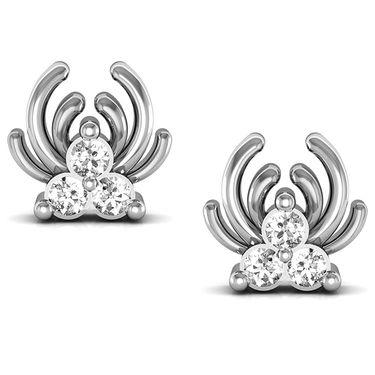 Avsar Real Gold and Swarovski Stone Radha Earrings_Bge013wb