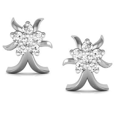 Avsar Real Gold and Swarovski Stone Chitra Earrings_Bge014wb