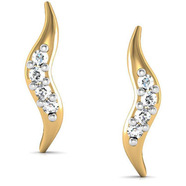 Avsar Real Gold and Swarovski Stone Meghana Earrings_Bge027yb
