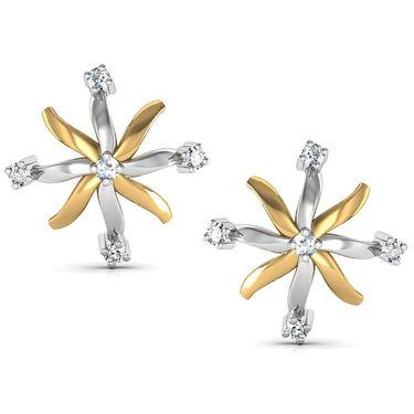 Avsar Real Gold and Swarovski Stone Darshana Earrings_Bge031yb