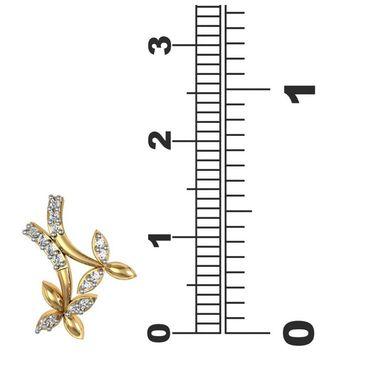 Avsar Real Gold and Swarovski Stone Ketaki Earrings_Bge055yb