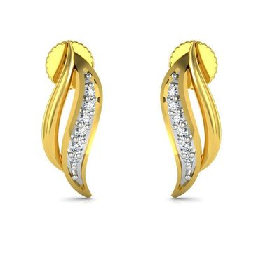 Avsar Real Gold and Swarovski Stone Divya Earrings_Bge060yb