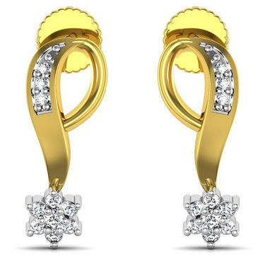Avsar Real Gold and Swarovski Stone Panjab Earrings_Bge062yb