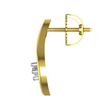 Avsar Real Gold and Swarovski Stone Patana Earrings_Uqe001yb