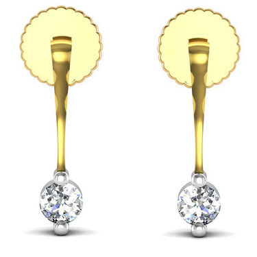 Avsar Real Gold and Swarovski Stone Aruna Earrings_Uqe006yb