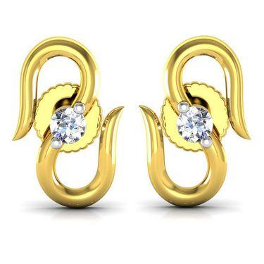 Avsar Real Gold and Swarovski Stone Maharashta Earrings_Uqe016yb