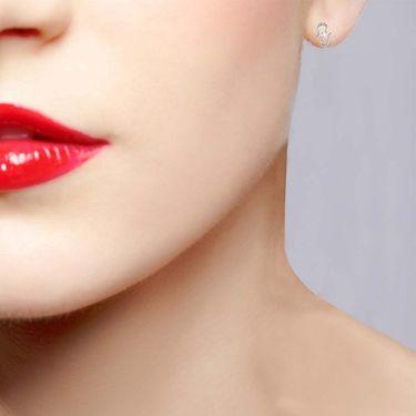 Avsar Real Gold and Swarovski Stone Swati Earrings_Uqe016wb