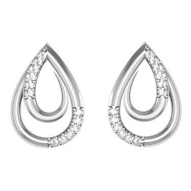 Avsar Real Gold and Swarovski Stone Mayuri Earrings_Tape009wb
