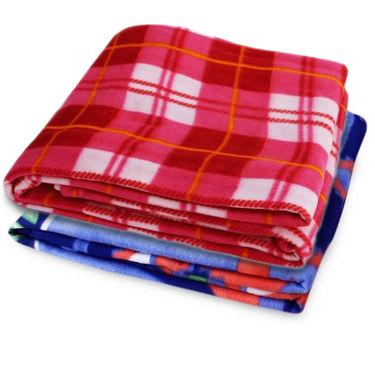 Storyathome Floral Pack of 2 Double Fleece Blanket-CA1210-CA1207