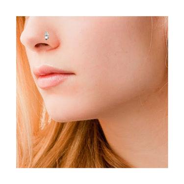 Avsar Real Gold & Swarovski Stone Gujarat Nose Pin_Av11yb
