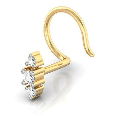 Avsar Real Gold & Swarovski Stone Pune Nose Pin_Av12yb