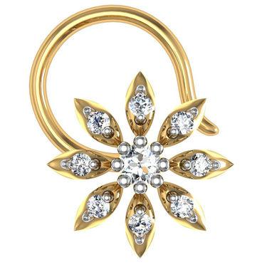 Avsar Real Gold & Swarovski Stone Nisha Nose Pin_Av20yb