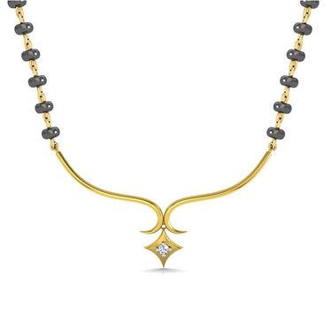 Avsar Real Gold & Swarovski Stone Kolkatta Necklace_Nl10yb