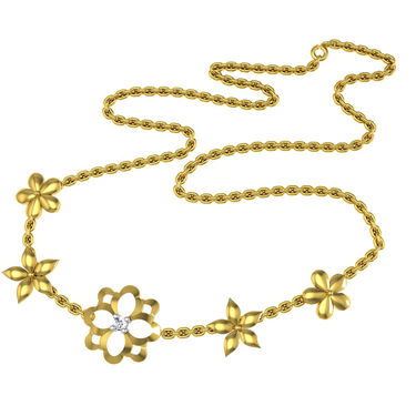 Avsar Real Gold & Swarovski Stone Poonam Necklace_Nl17yb