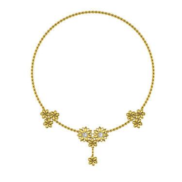 Avsar Real Gold & Swarovski Stone Kajal Necklace_Nl3yb