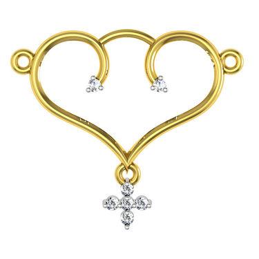 Avsar Real Gold & Swarovski Stone Sachi Necklace_Nl5yb