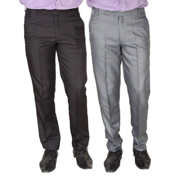 Pack of 2 Formal Trousers For Men_Tr1418