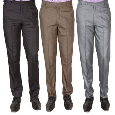 Pack of 3 Formal Trousers For Men_Tr143418