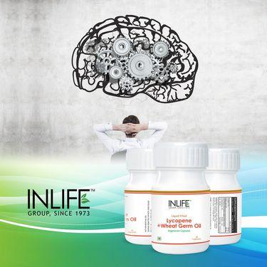 INLIFE Lycopene Wheat Germ Oil, 30 Veg Capsules For Prostate & Cardio Health