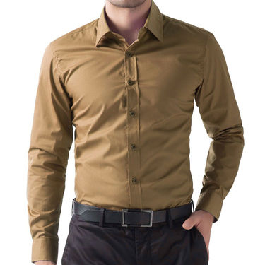 Full Sleeves Cotton Shirt_brwnsht - Brown