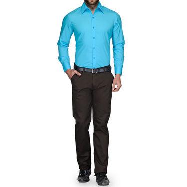 Full Sleeves Cotton Shirt_skbluesht - Sky Blue