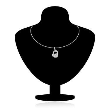 Mahi Rhodium Plated Crystal Pendant Set_Nl1101726r