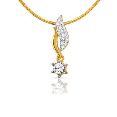 Mahi Gold Plated Crystal Pendant Set_Nl1101751g