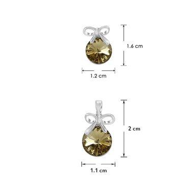 Mahi Rhodium Plated Swarovski Elements Pendant Set_Nl1104080rbro