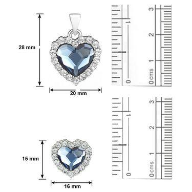 Mahi Rhodium Plated Swarovski Elements Pendant Set_Nl1104118rblu