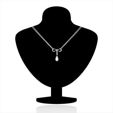 Mahi Rhodium Plated Swarovski Zirconia Pendant Set_Nl3101003c