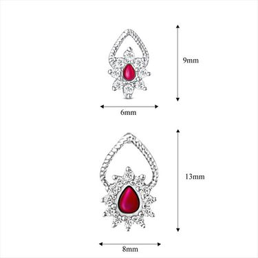 Mahi Rhodium Plated Swarovski Zirconia Pendant Set_Nl3101006spin