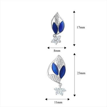 Mahi Rhodium Plated Swarovski Zirconia Pendant Set_Nl3101018c