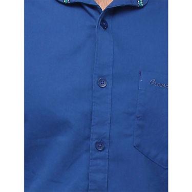 Crosscreek Full Sleeves Cotton Casual Shirt_1180305F - Blue