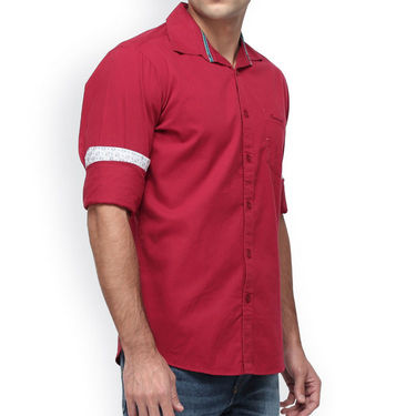 Crosscreek Full Sleeves Cotton Casual Shirt_1180306F - Red